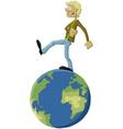 man on world vector image