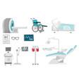 medical equipment cartoon set vector image