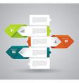 Modern Design Layout - paper progress steps vector image vector image