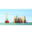 New York Skyline Design Concept vector image vector image
