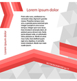 page template gray triangle red line layout vector image vector image