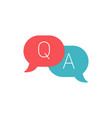 question and answer line and glyph icon e vector image vector image