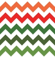 Red and Green Zigzag Pattern vector image vector image