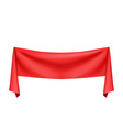 red silk cloth vector image vector image