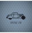 Retro cabriolet car vintage outline style vector image
