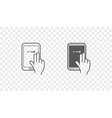 Set of Icons with Hands Holding Smart Device with vector image vector image