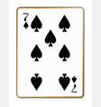 seven spades vector image