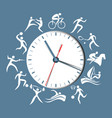 sport clock vector image vector image