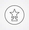 star outline symbol dark on white background logo vector image vector image