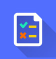 survey - icon for graphic and web design vector image