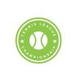 tennis sport graphic design inspiration vector image vector image