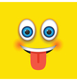tongue out square emoji vector image vector image