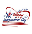 us independence day lettering card design vector image vector image