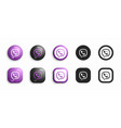viber modern 3d and flat icons set vector image