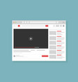 video hosting service page vector image vector image