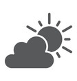 weather glyph icon sky and climate sun and cloud vector image vector image