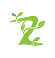 z letter ecology nature element icon vector image
