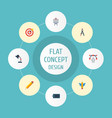 flat icons gadget pen writing and other vector image