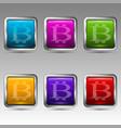 symbols of bitcoin vector image