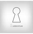 Grey keyhole sign vector image