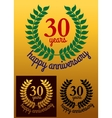 30 Years Happy Anniversary wreath vector image vector image