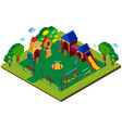 3d design for playground vector image vector image
