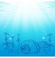 Abstract Sea Life vector image vector image