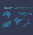 australia new zealand indonesia india and south vector image vector image