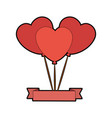 balloon in heart shape icon vector image vector image
