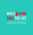 Banner world blood donor day style collection