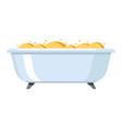 bath in bathroom adversting icon vector image