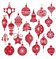 Big set vintage holiday Christmas and New Year vector image