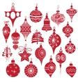Big set vintage holiday Christmas and New Year vector image vector image