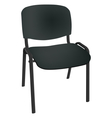 Black office single chair isolated on white vector image vector image
