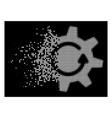 bright sparkle pixel halftone cogwheel rotation vector image