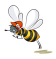 cartoon image of happy bee vector image vector image