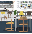 coffee shop design art vector image vector image