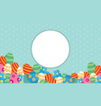collection of frame easter theme vector image vector image