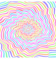 colorful expanding ripples vector image
