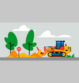 construction machinery works at site vector image vector image