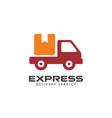 courier logo design template shipment logo design vector image vector image
