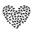 cute bird pattern isolated vector image vector image