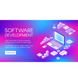 digital software development vector image vector image