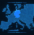 europe abstract map germany vector image vector image