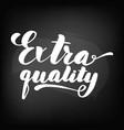 extra quality chalkboard blackboard lettering vector image vector image
