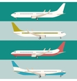 flat set planes vector image