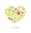 fresh salad heart silhouette pattern frame vector image vector image
