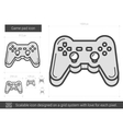 Game pad line icon vector image vector image