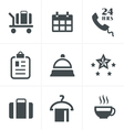Hotel and Hotel Services Icons vector image