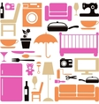 house furniture set vector image vector image